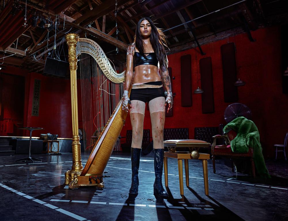 Steven Klein; Equinox; Woman with Harp