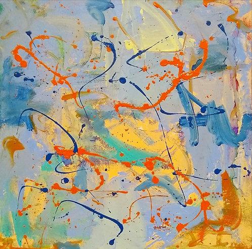 El baile de naranjas y azules