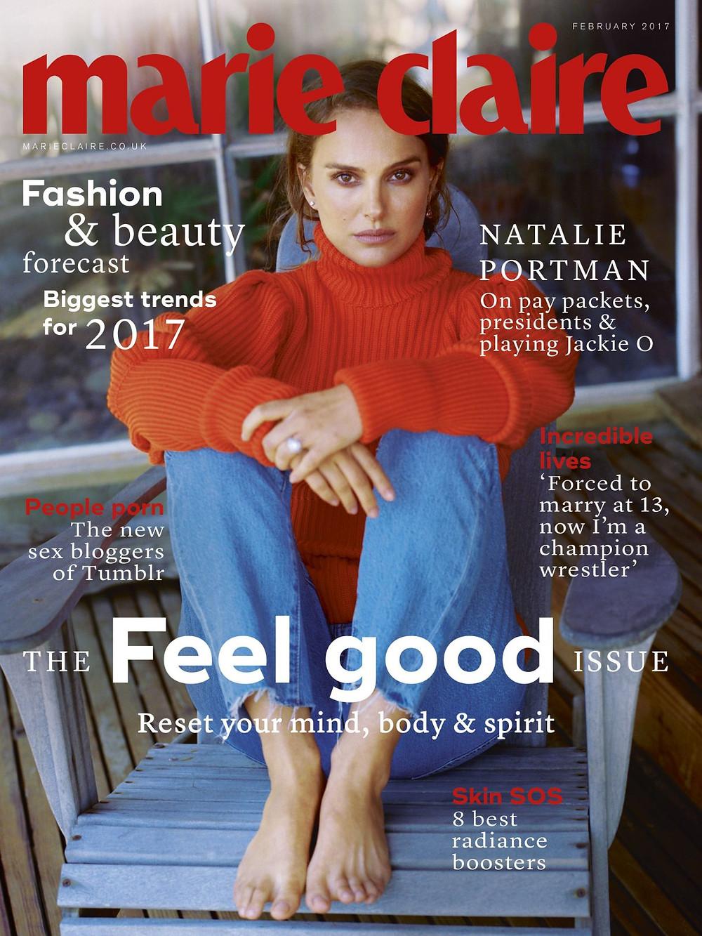 Matt Jones; Marie Claire Cover; Natalie Portman