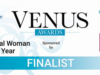 Venus Award Finalist - what it means to me