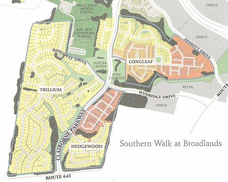 Southern Walk Map