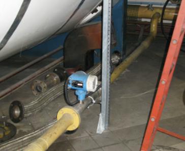 Flujo de Gas Natural en alimentación de caldera