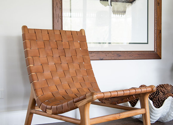 Woven Leather Sling Chair