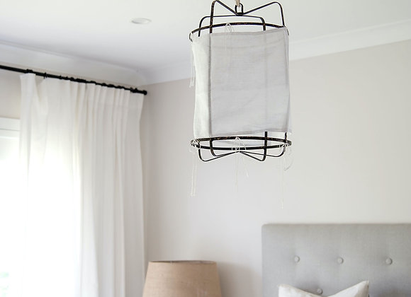 Casual Linen Pendant Light