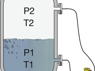 Medición de nivel con presión diferencial