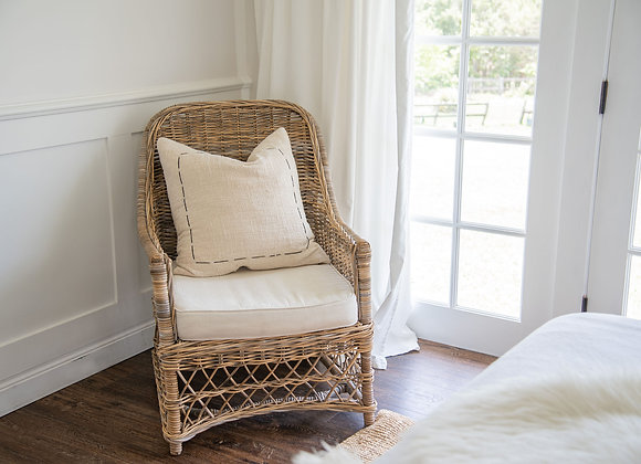 Rattan Accent Occasional Chair
