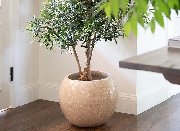 Brown Round Feature Pot