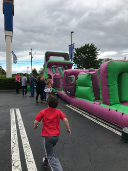 Fun times on the inflatable slide!!