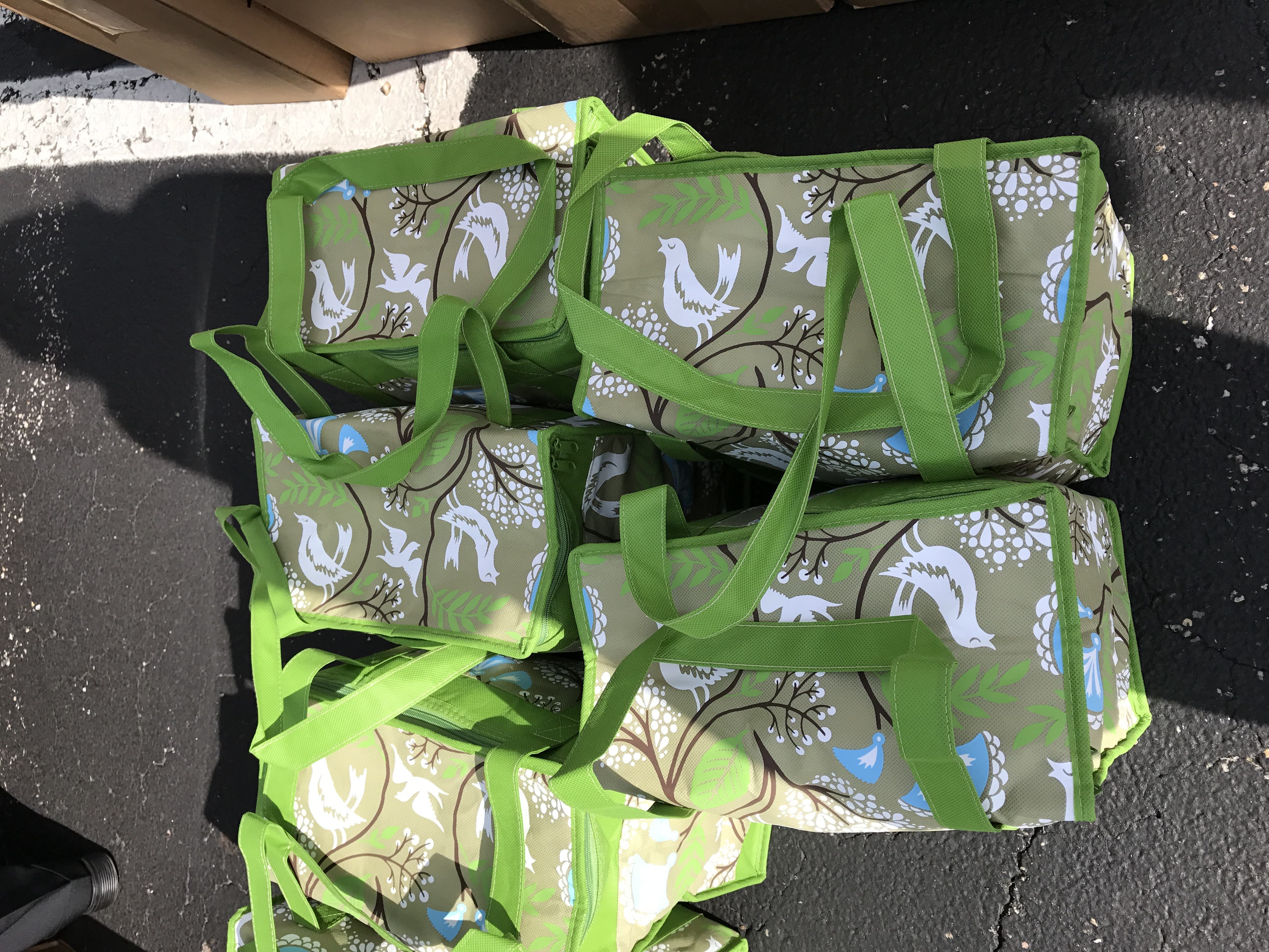 Publix bags ready for the raffle