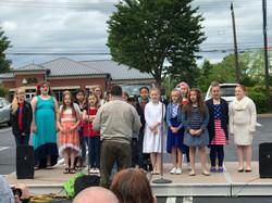 Tussing Elementary School Sings Patriotic Songs