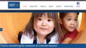 Colonial Square Shopping Center Launches New Website