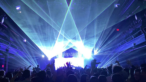 Camp Superdope concert in Seattle WA with laser light show