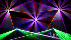 Custom laser show programmed for client.