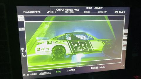 Laser beam floating swirl for video shoot