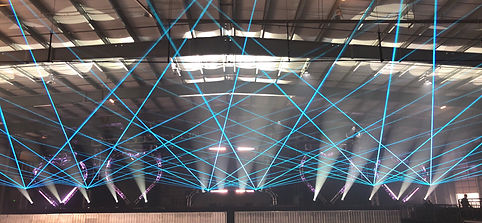 Corporate special Event, laser show in San Francisco