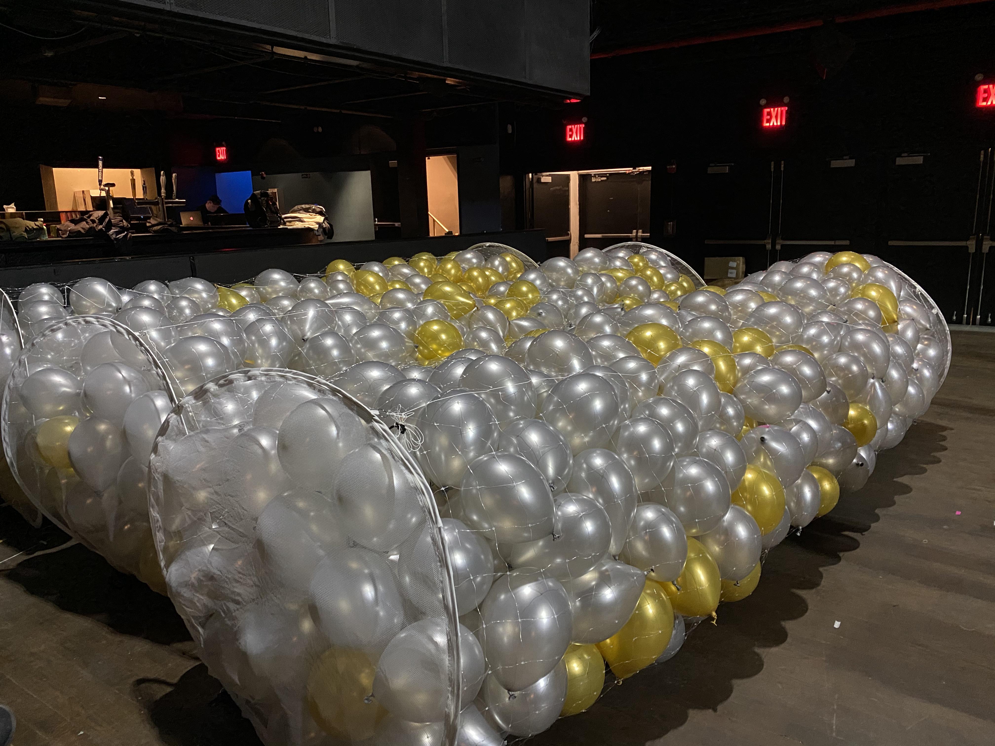 balloons ready for big balloon drop NYC.