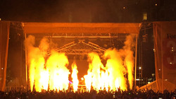 Music festival flame effects
