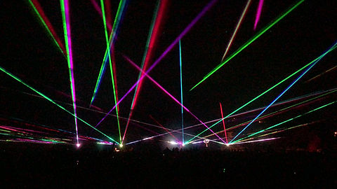 Laser Show outside San Diego, CA