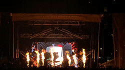 Flame effect for live concert