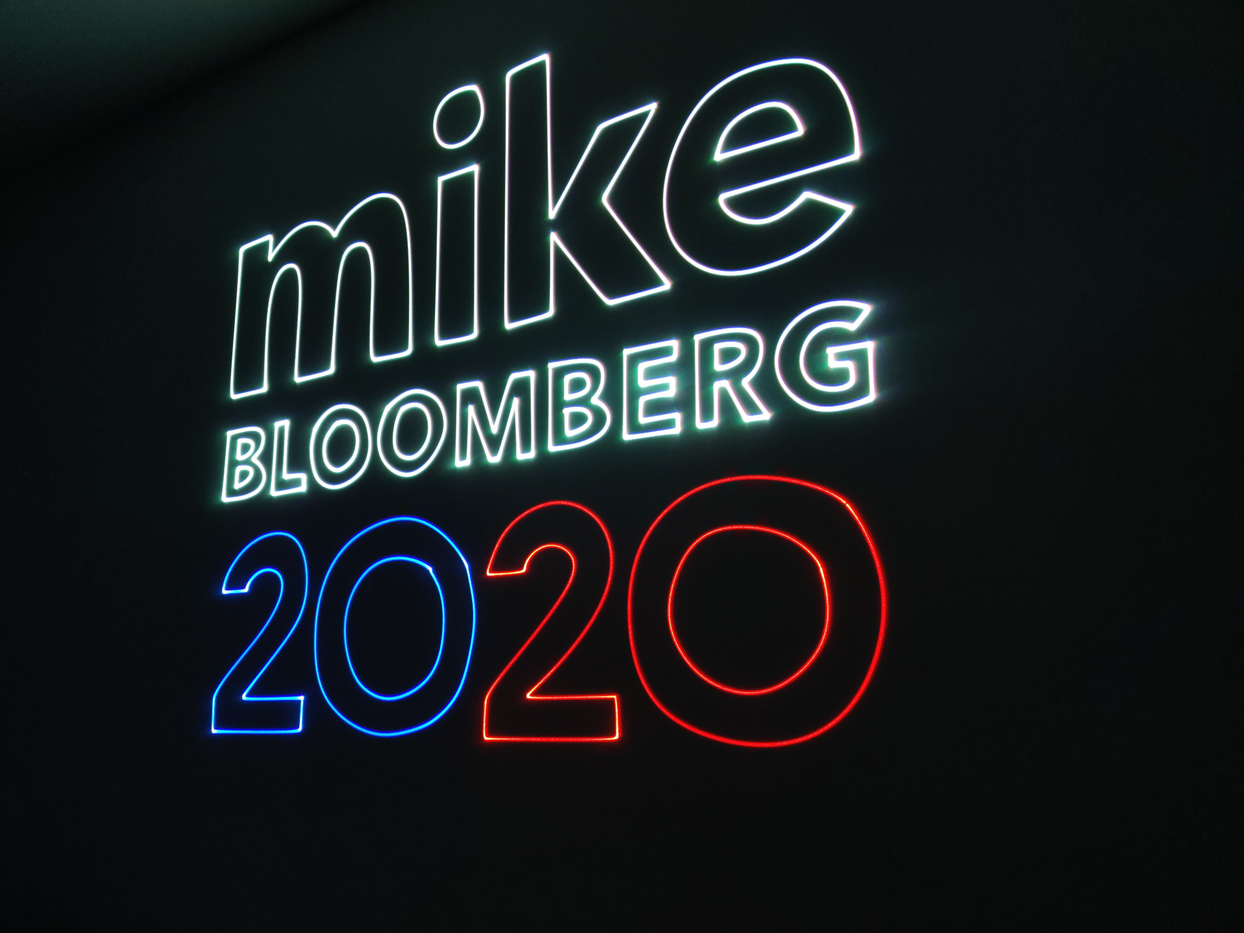 Mike Bloomberg logo projection for campa