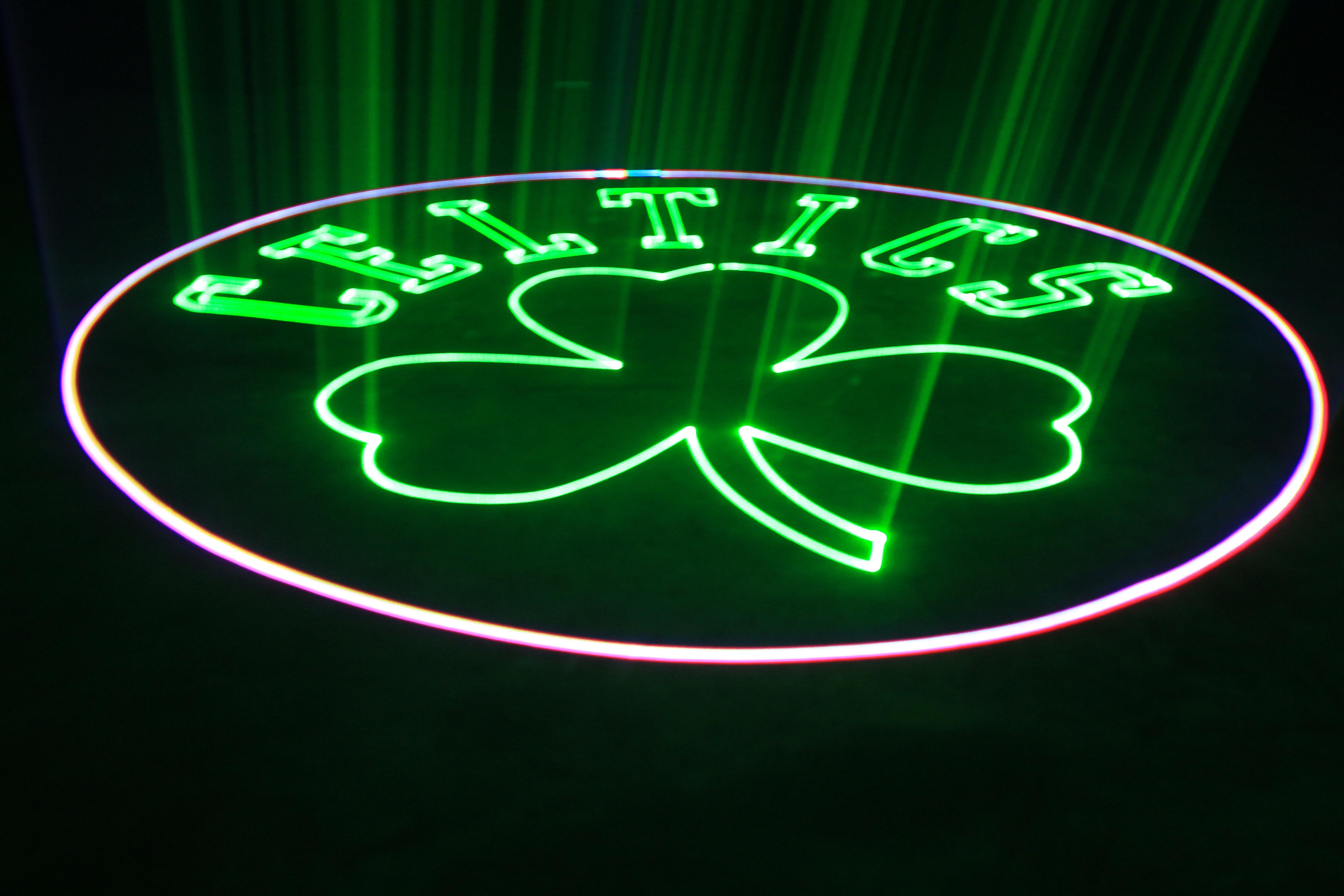 Celtics Logo Advertising Demo for Boston Garden
