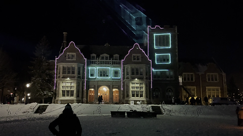 Laser Mapping on College Building Student Activity