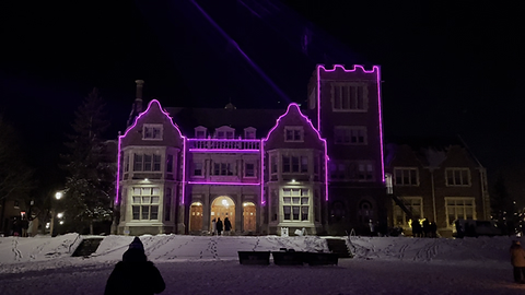 Geneva NY College Laser Mapping on Buildings