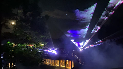 Outdoor laser light show in San Jose area of California