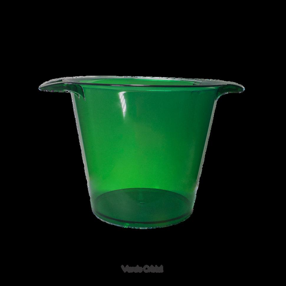 balde de gelo verde