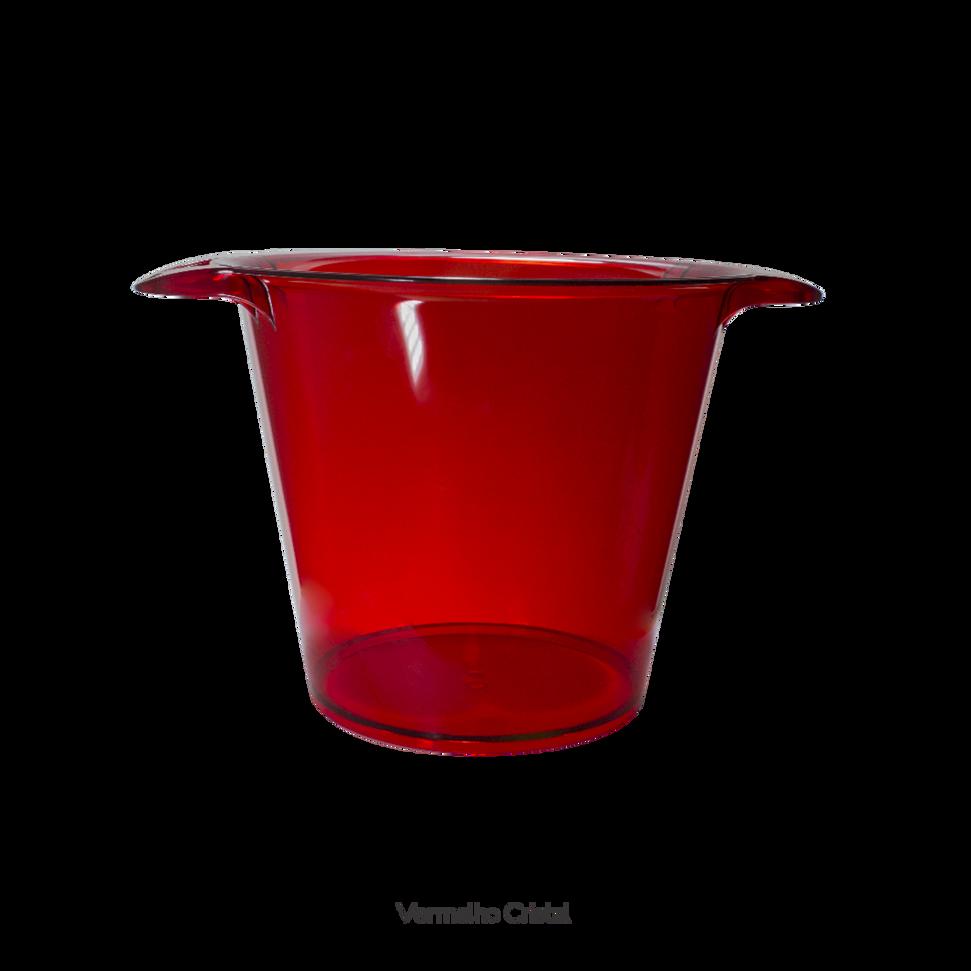 balde de gelo vermelho