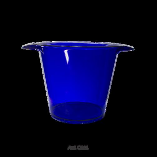 balde de gelo azul