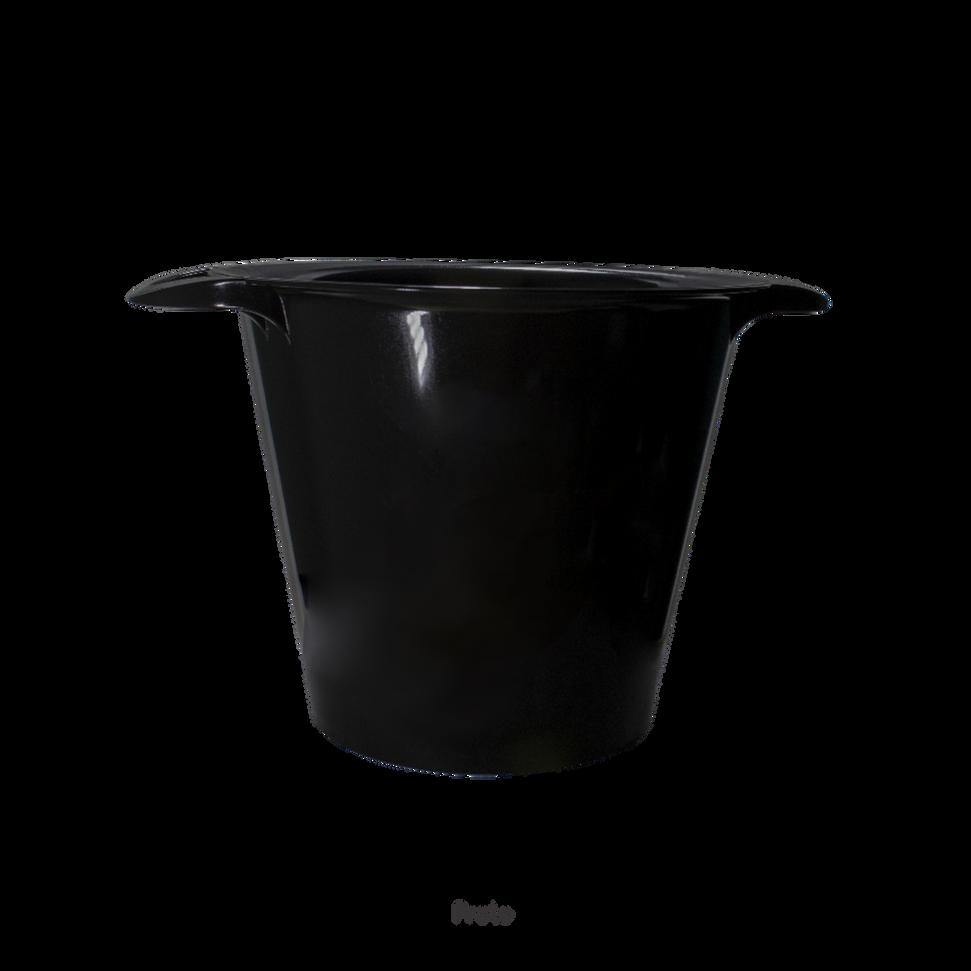 balde de gelo preto