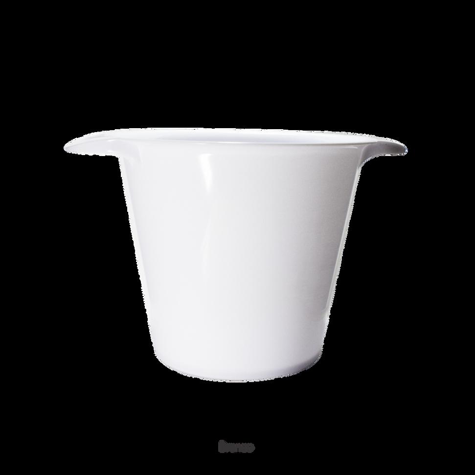 balde de gelo branco