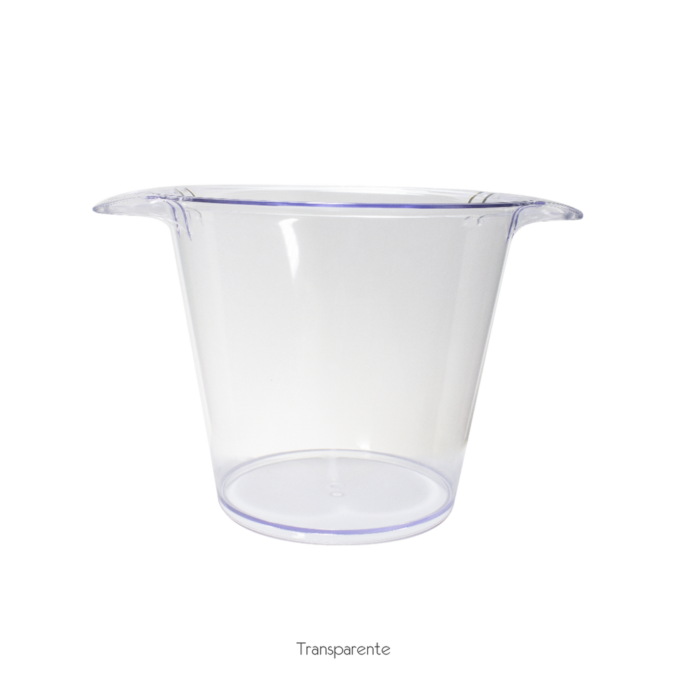 balde de gelo transparente