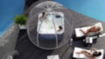 Rondo Überdachung Whirlpools - aquacomet