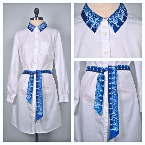 Beautifully Restrained: Blue Collar Dress