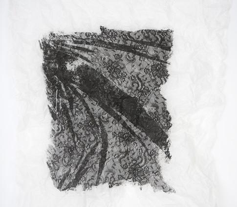 Silkscreen on lens tissue paper
