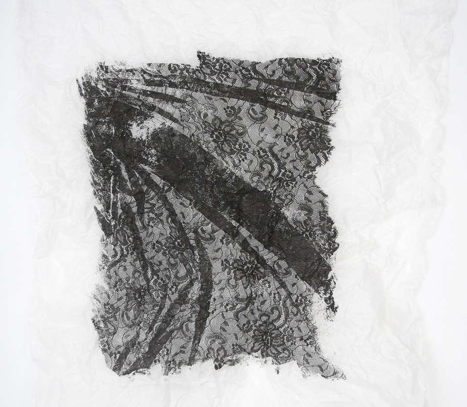 Silkscreen on lens tissue paper