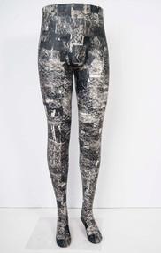 Silkscreen collage on mannequin limbs