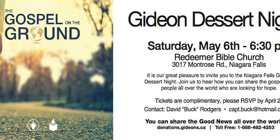 Gideon Dessert Night
