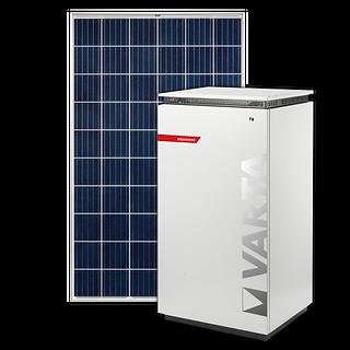 Solarmodul und Stromspeicher