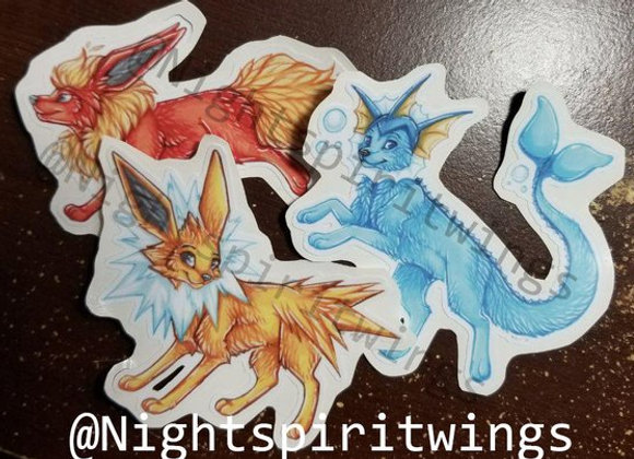 Eevee-lutions Vinyl Stickers