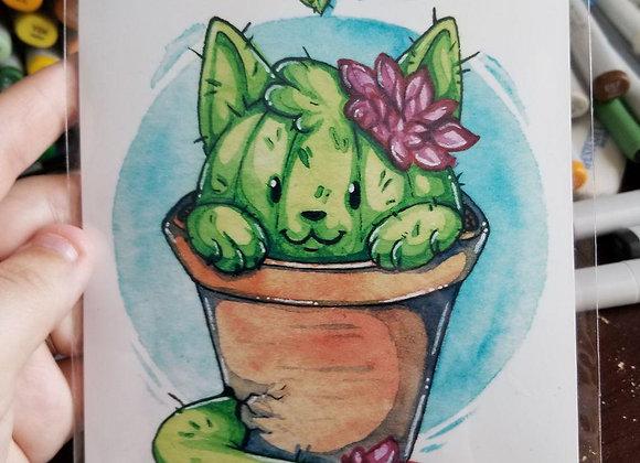 Cactus Cat Print