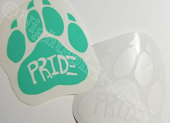 Pride Paws Decal