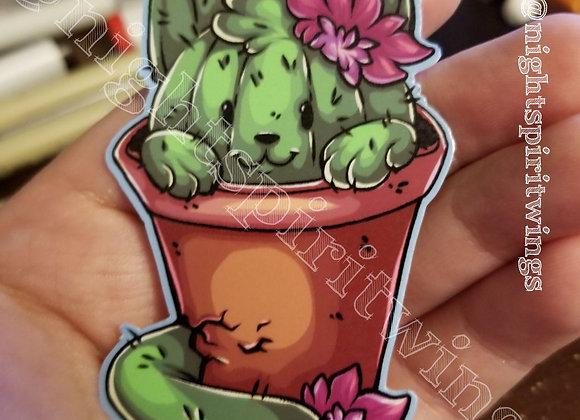 Cactus cat sticker