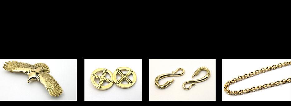 ゴールド金ネックレスのセットです