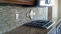 Granite cutout from stove