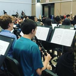 Clarinets rehearsing