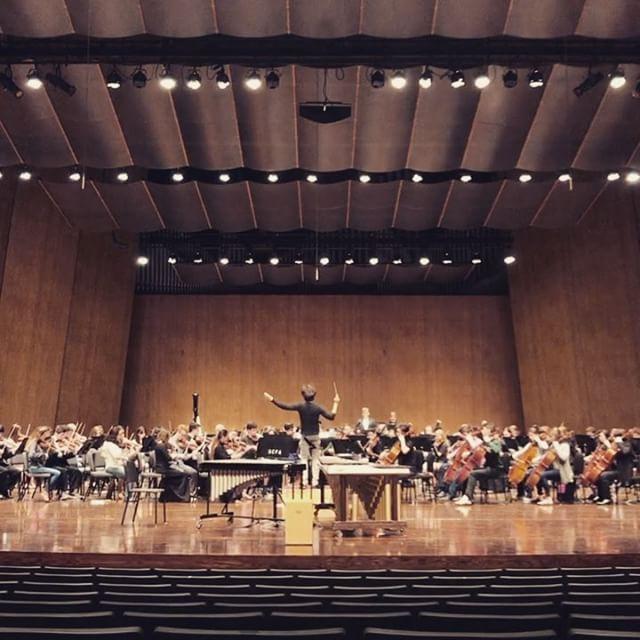 Season Finale Concert rehearsal