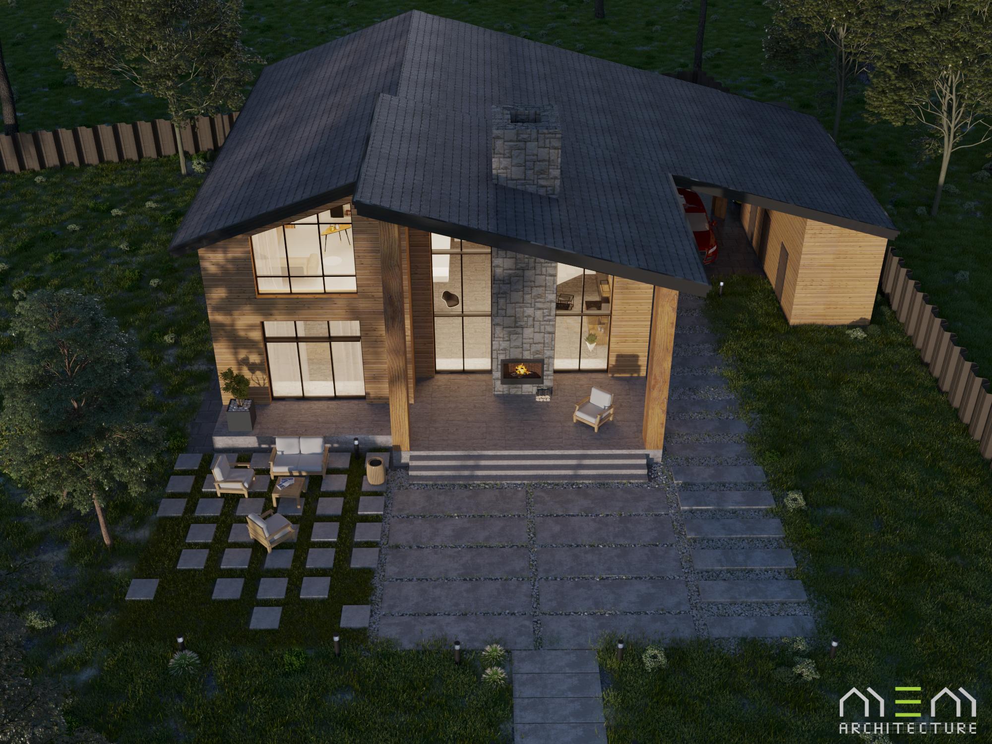 Дом из бруса в КП Лосиный парк